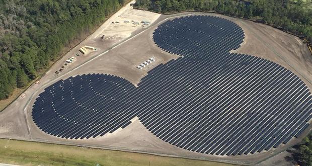 Mickey Mouse shaped solar farm