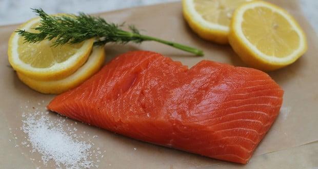 Wild salmon flesh
