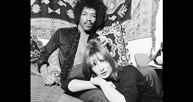 Jimi Hendrix and Kathy Etchingham
