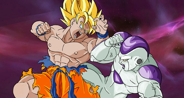 Goku and Frieza fight