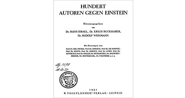 100 Authors Against Einstein