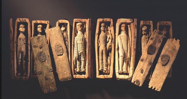 17 miniature coffins