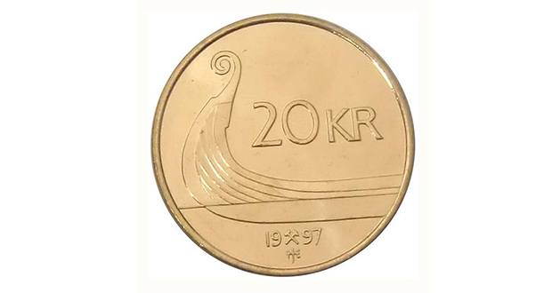 20 Norwegian krone coin