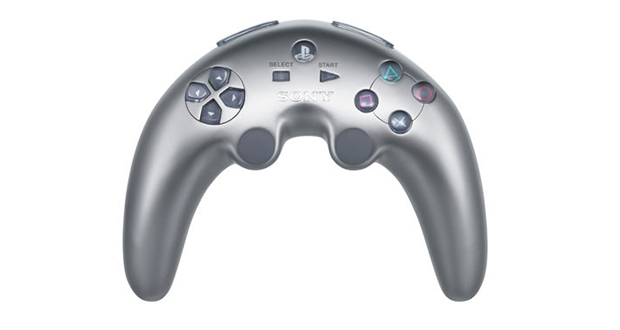 Silver PlayStation 3 controller