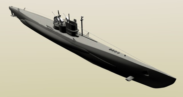 German submarine U-1206
