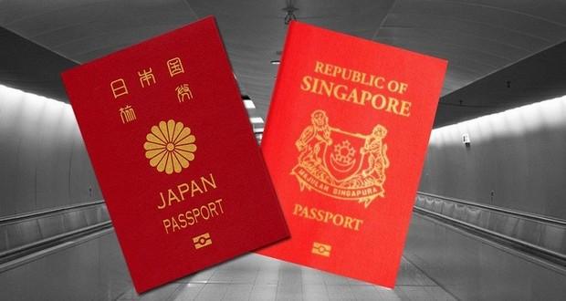 Japan and Singapore passports