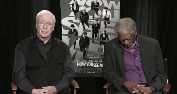Morgan Freeman and Michael Caine