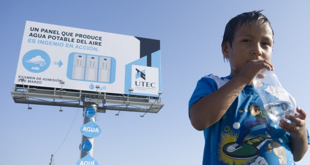 Lima water billboard