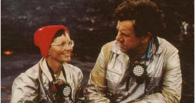 Maurice Krafft and Katia