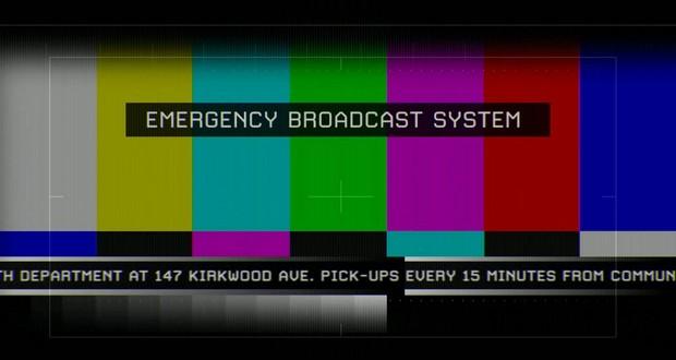 Emergency Broadcast System alert