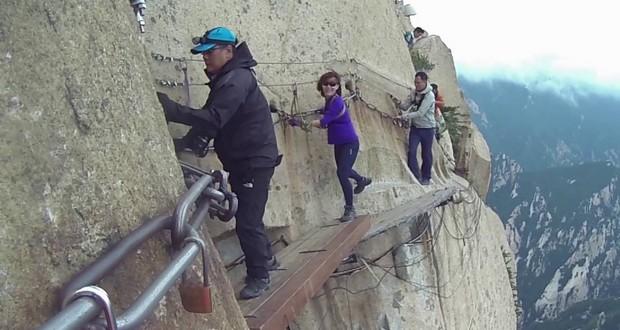 Mount Huashan plank walk, China