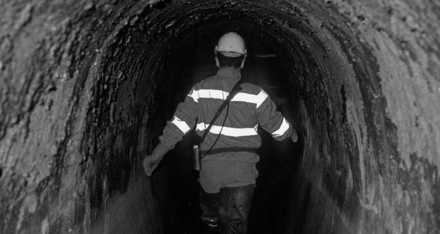 Sewer worker