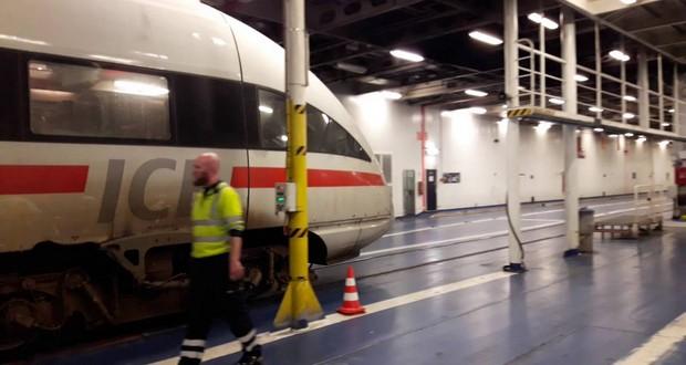 Train on Ferry