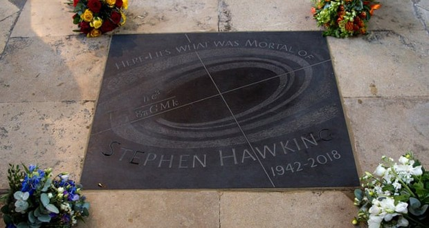 Stephen Hawking's ashes
