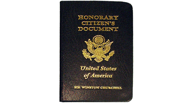 Honorary citizen of USA
