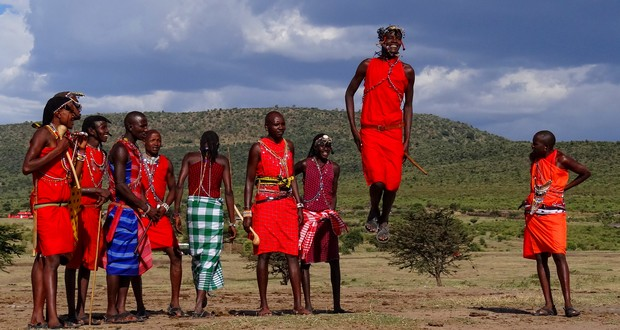 Kenya Masai tribesmen