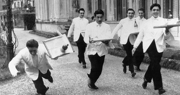 French waiters strike