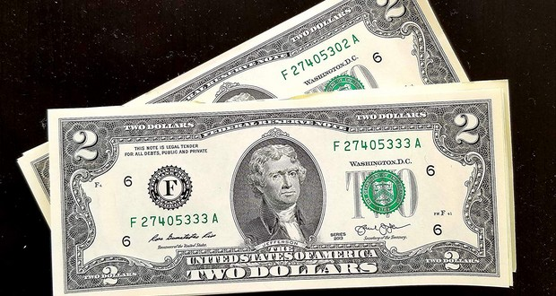 US two-dollar bill