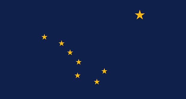Alaskan state flag