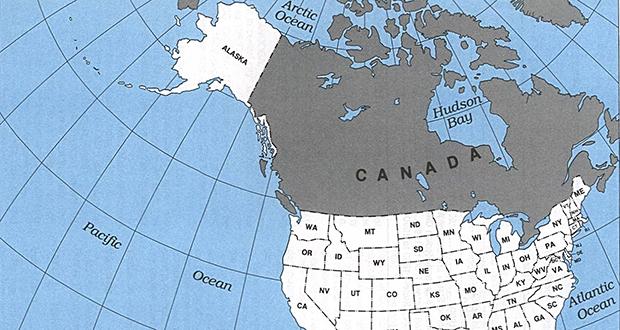 USA and Alaska