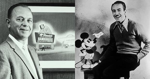 Walt Disney and Ray Kroc