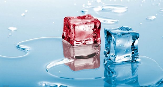 Hot and cold water