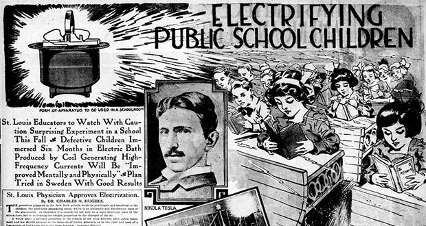 School children experiment