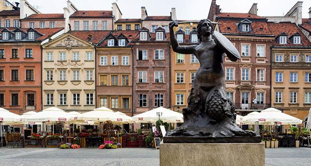 Warsaw's historic center