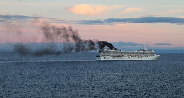 Cruise ship emissions
