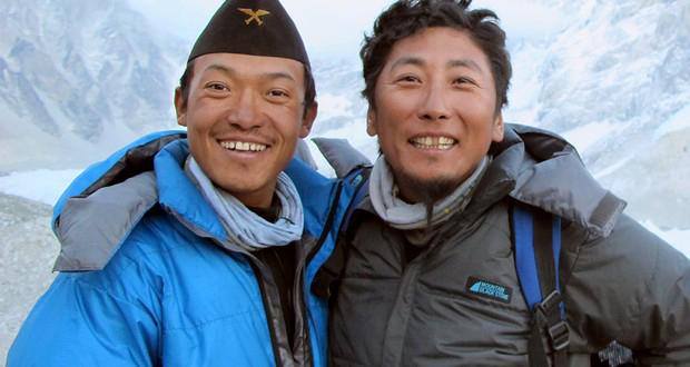Babu Sunuwar and Lakpa Tsering Sherpa