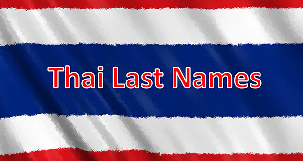 Thai last names