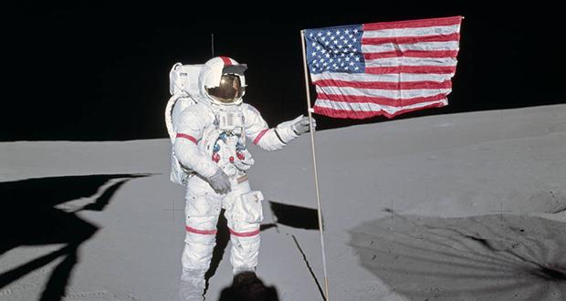 Lunar Flag assembly