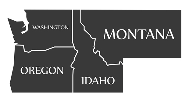 Montana and Washington