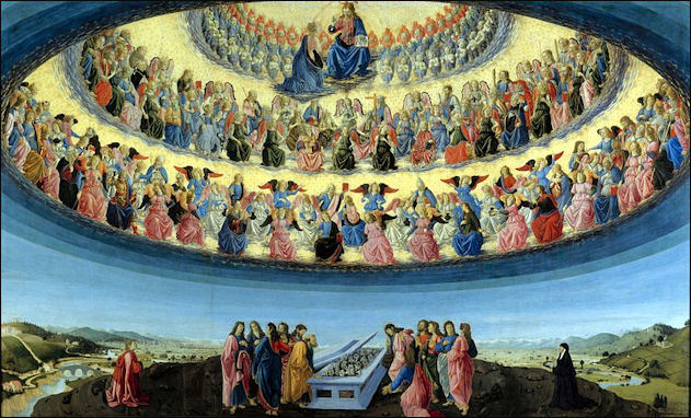 Image result for heaven in renaissance painting