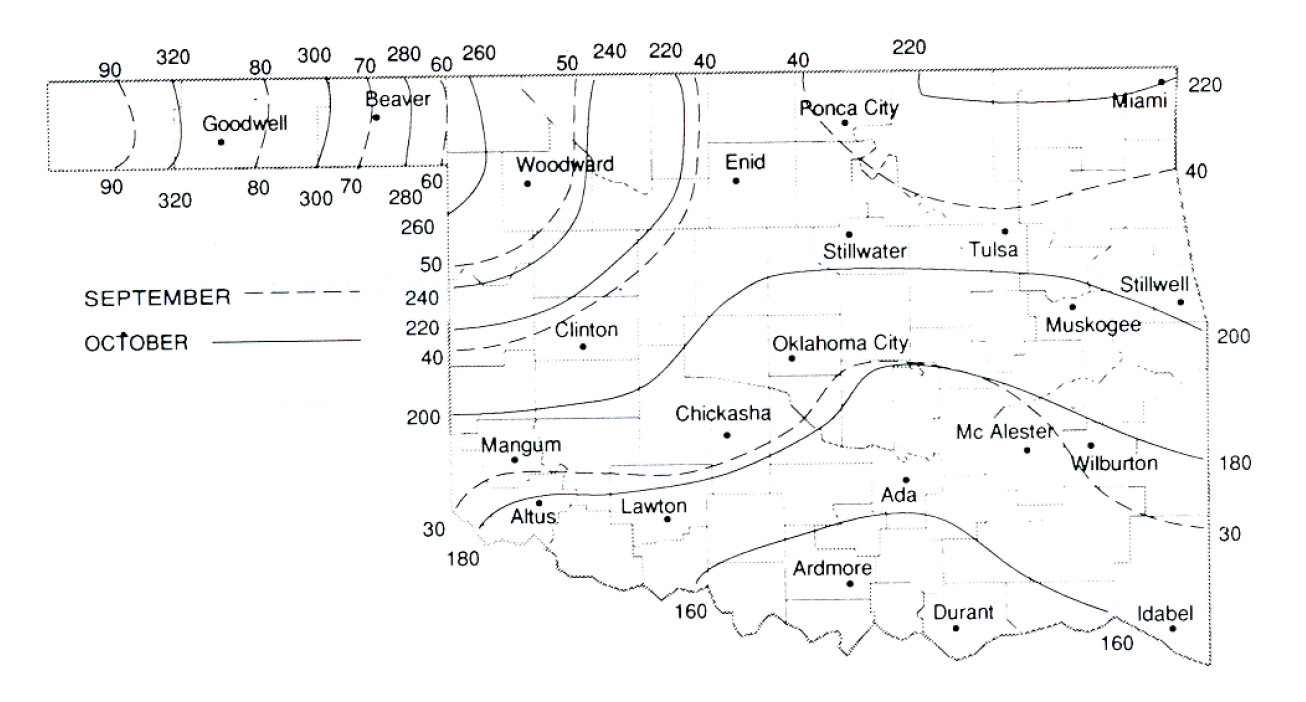 hight resolution of figure 1 hours during september and october where temperature is less than 55 f in oklahoma 30 year weather data