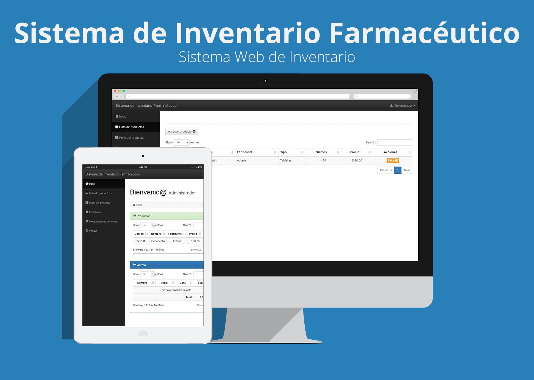 Sistema de Inventario para farmacias con PHP y Bootstrap – Sistemas ...