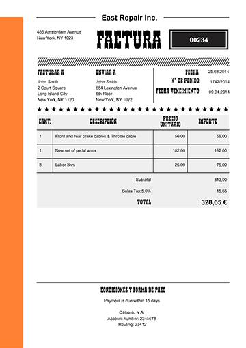100 modelos de facturas en pdf