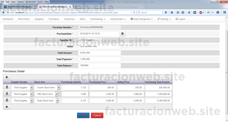 Sistema de control de inventario y punto de venta con PHP