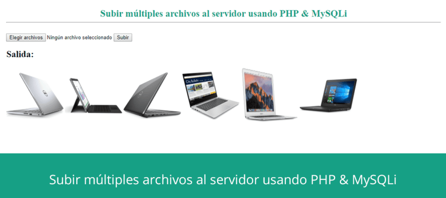 Subir múltiples archivos al servidor usando PHP & MySQLi