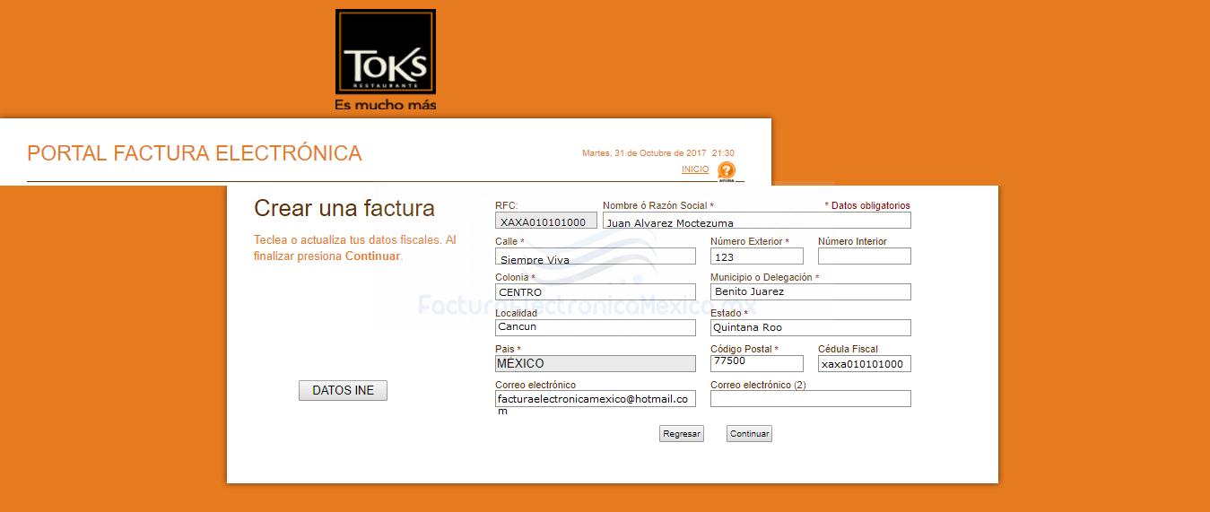 facturacion electronica toks
