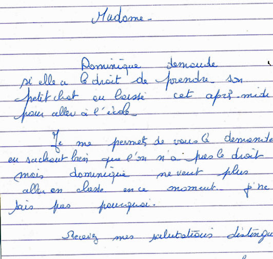 Mot D Excuse Pour L école : excuse, école, D'excuse, L'ecole, Malade, Modele, Lettre