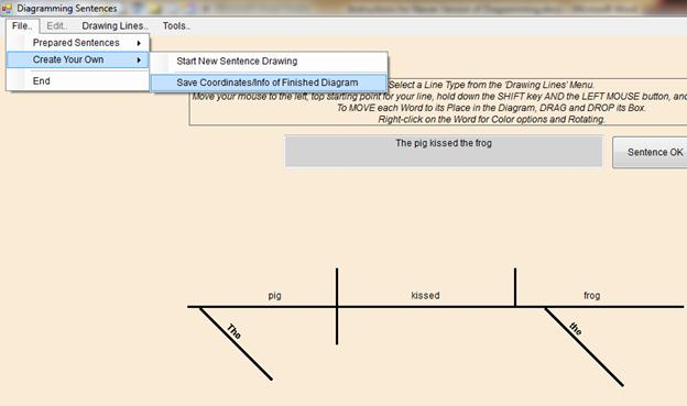 sentence diagramming software root cause analysis fishbone diagram example instructions for newer version i of traditional a panel will appear and list the words in prompting you to enter information about each word