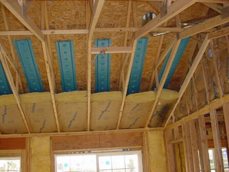How to insulate a vaulted ceiling roof for How to build a cathedral ceiling