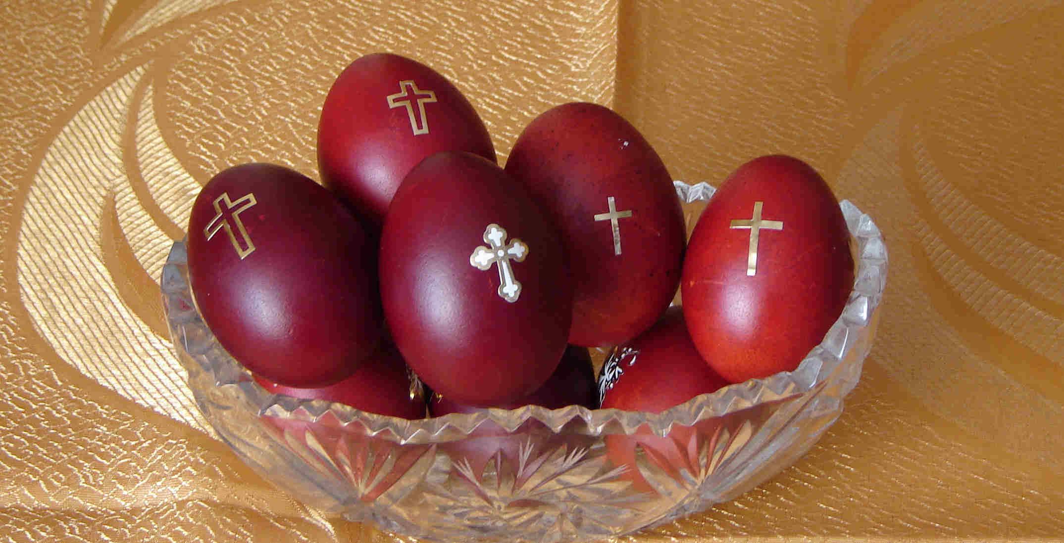 Red Easter Eggs  Selah