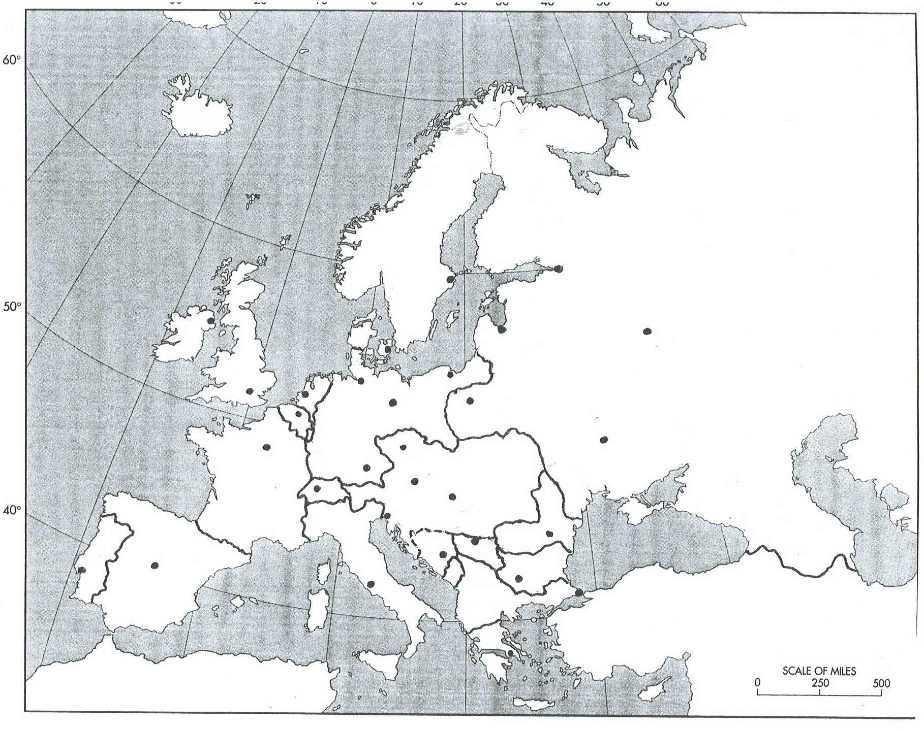 Blank Map Of Europe During World War 2