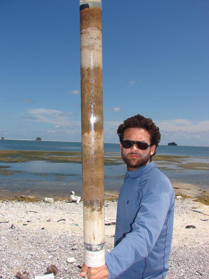 Dan with a Sediment Core