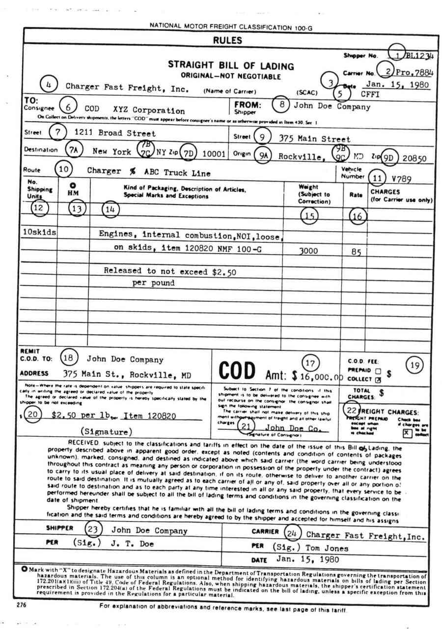 bill of lading liner sample resume medical billing manager bill of lading liner
