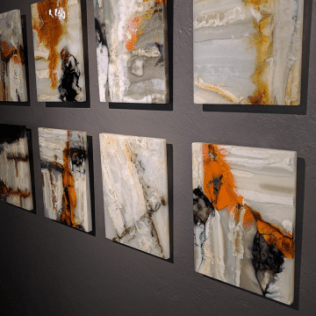 Kim Brill - Plaza Blanca, New Mexico: Investigations (2016): From the Emerge 2016 exhibit. Glass art that looks geological. There's a pretty huge overlap between glass art and experimental petrology.