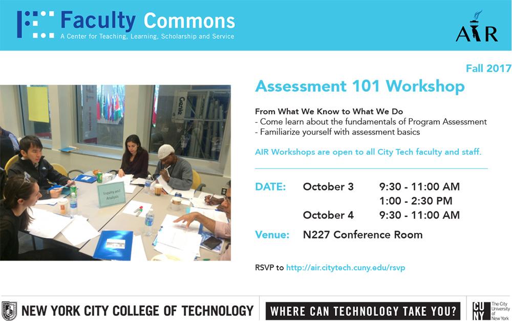 AIR Assessment 101 Workshop