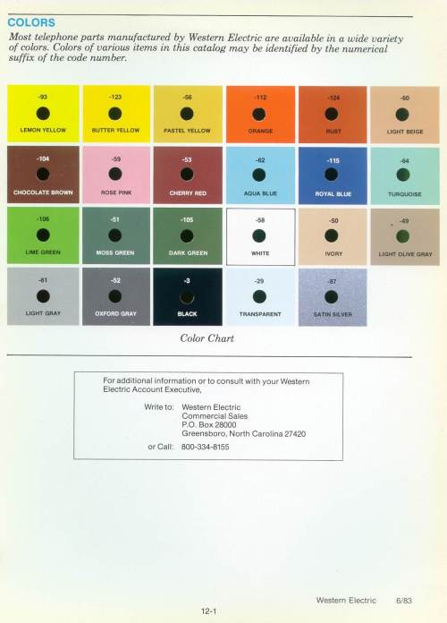 small resolution of six color telephone wiring color code